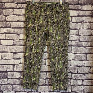 Tahari Black, Tan & Green Pants Size 12